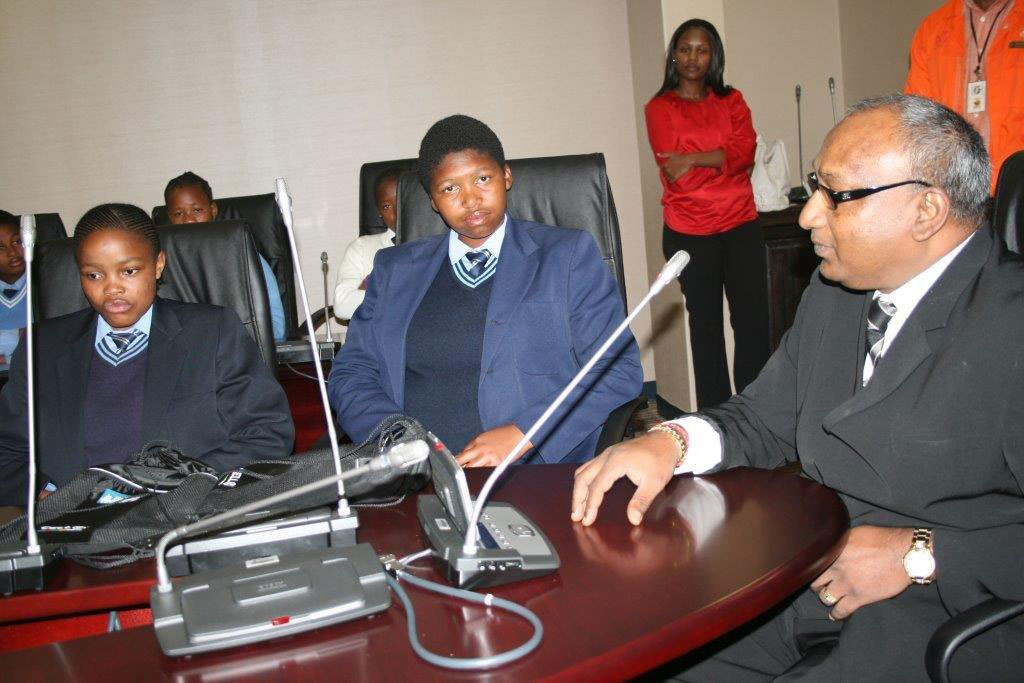 Take-a-Girl-Child-To-Work-HOD-Govender-with-students